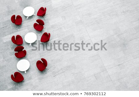 High angle view of empty table and chair in lobby at office Stock photo © wavebreak_media