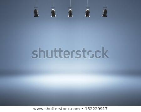Nero lampada riflettori soffitto copia spazio illustrazione 3d Foto d'archivio © make