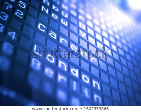 Career On Airport Departure Board - Business Concept 3d Foto stock © Tashatuvango