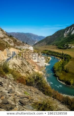 çağlayan nehir dağlar sibirya Rusya orman Stok fotoğraf © olira