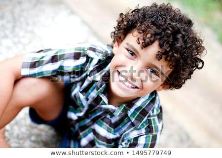 Menino parque bonitinho jogar jogar sorridente Foto stock © elvinstar