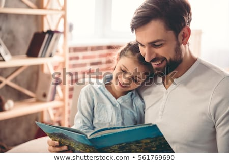 отец · чтение · дочь · девушки · таблице · женщины - Сток-фото © photography33