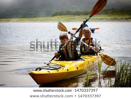 canoe on waters edge Stock photo © clearviewstock