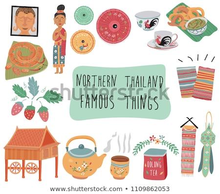 thai traditional earthenware Stock photo © smithore