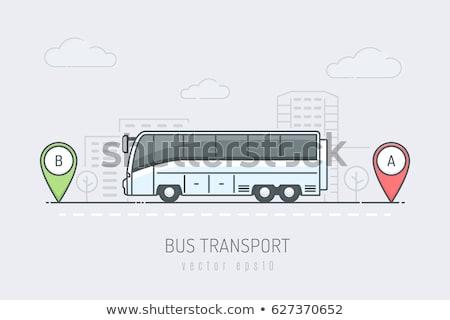 vetor · ônibus · rodas · isolado · branco · caminhão - foto stock © leonido