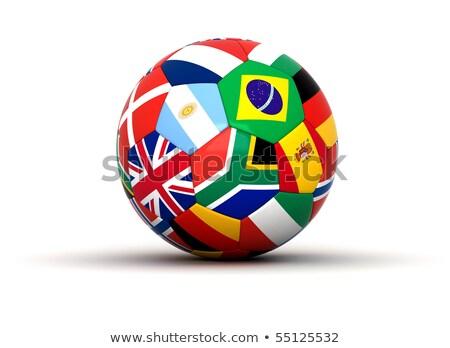 Мир Кубок 2010 флагами футбола облачный Сток-фото © joker