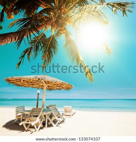Foto d'archivio: Spiaggia · tropicale · piazza · spiaggia · cielo · mare