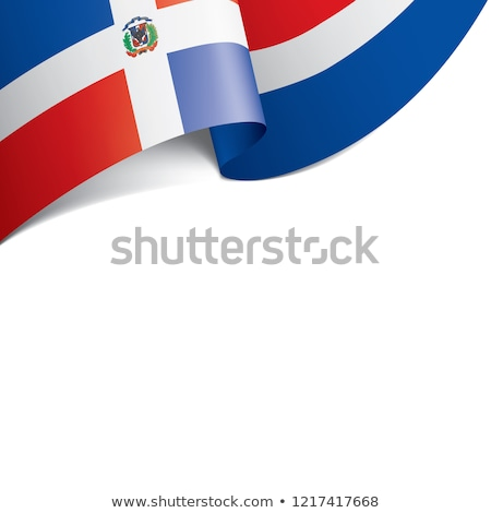 Political waving flag of Dominican Republic Stock photo © perysty