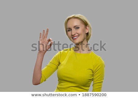 Stock photo: Manager showing okay sign to camera, good work