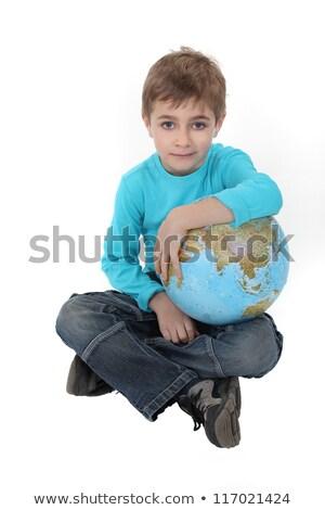 мальчика мира земле образование синий Kid Сток-фото © photography33