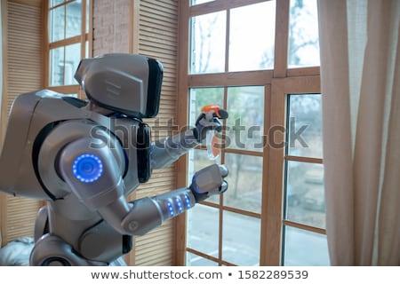 robot · omhoog · klein · metaal · toekomst - stockfoto © aliencat