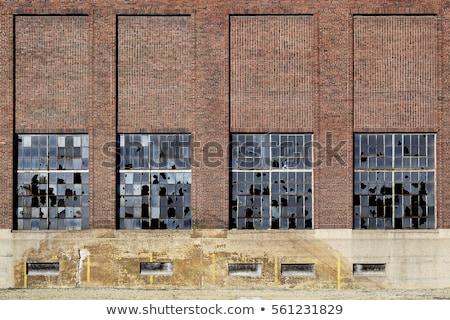 Gyár ablak fut lefelé ipari birtok Stock fotó © Snapshot