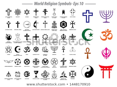 major world religions - Christian, Muslim, Jewish, Hindu, Atheis Stock photo © dacasdo