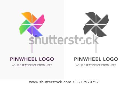 Vector icon pinwheel Stock photo © zzve