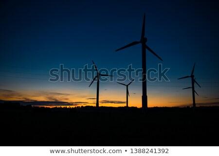 wind turbines at night Stock photo © ssuaphoto