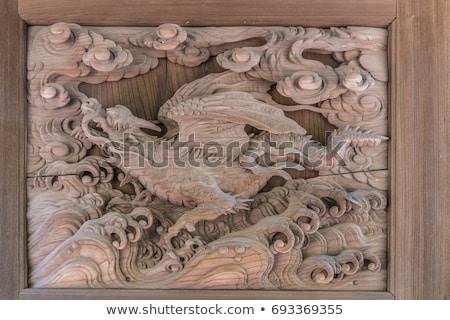 дракон · скульптуры · стены · путешествия · архитектура · власти - Сток-фото © witthaya