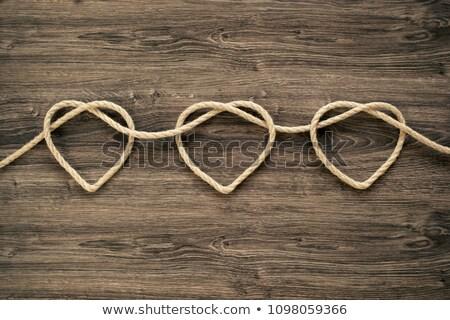 Kalp ahşap çerçeve kalp şekli düğün Stok fotoğraf © FOTOYOU