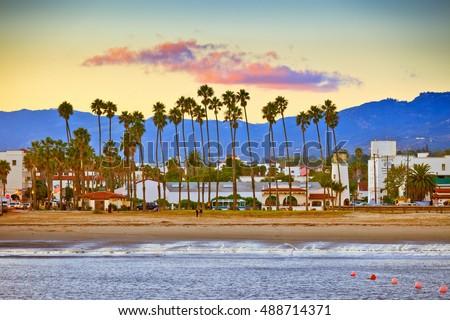 beach at Santa Barbara Stock photo © meinzahn