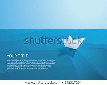 Kâğıt tekne örnek vektör soyut Stok fotoğraf © auimeesri