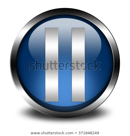 blue pause button isolated on white background Stock photo © jarin13