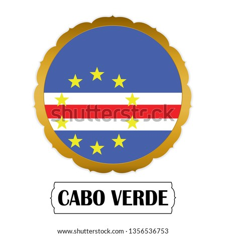 Map on flag button of Republic of Cabo Verde Stock photo © Istanbul2009