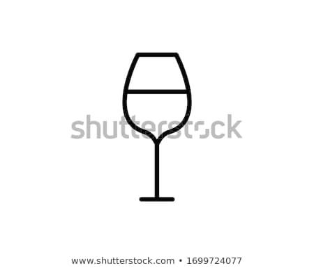 Wijnglas lege bril zwarte wijn fles Stockfoto © wxin