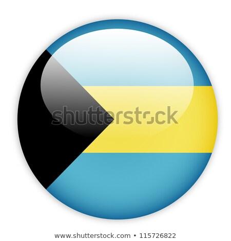 Bandeira pin Bahamas isolado branco mundo Foto stock © MikhailMishchenko