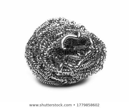 Acél drót bozót fehér fém szerszám Stock fotó © peter_zijlstra
