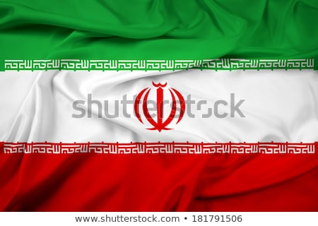 Bandeira Irã isolado branco Foto stock © MikhailMishchenko