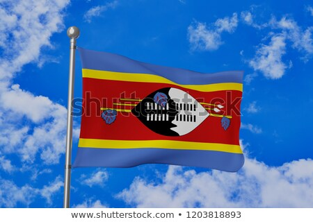 Waving flag of swaziland Stock photo © MikhailMishchenko