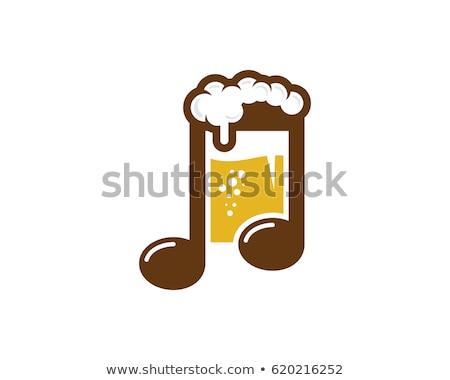 Sör zene közelkép üveg ír bakelit Stock fotó © Koufax73