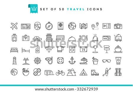Travel and vacation resort icons Stock photo © Winner