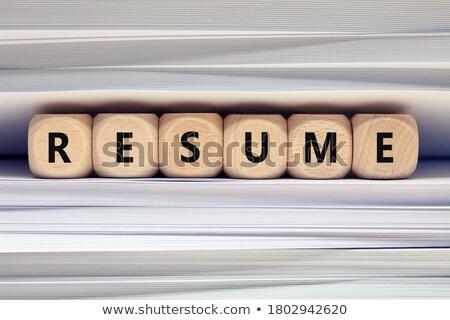 Resume Concept with Word on Folder. Stock photo © tashatuvango