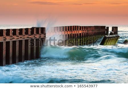 Северная · Каролина · отставку · старые · Маяк · пляж - Сток-фото © alex_grichenko