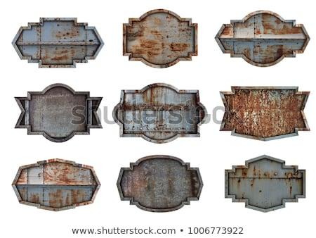 antique pattern metal frame Stock photo © sirylok