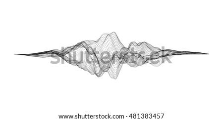 Audio Wave and Wire Mesh Stock photo © derocz