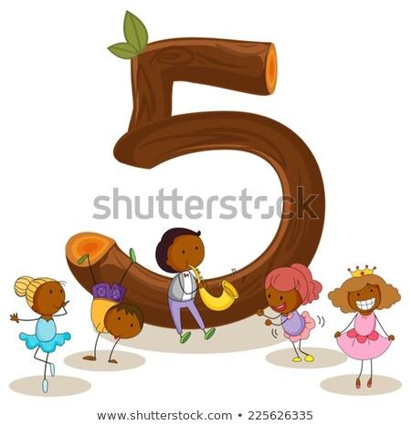 番号 · 実例 · 5 · ピンク - ストックフォト © bluering