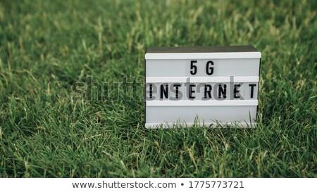 Zwarte slide goud acroniem reflectie exemplaar ruimte Stockfoto © timbrk