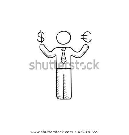 знак · человека · восемь · евро · пятьдесят · заработная · плата - Сток-фото © rastudio