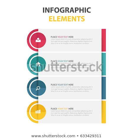 four steps white infograph design for web or workflow layout dia Stock photo © SArts