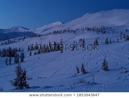 Ski lift landschap nacht lege sport Stockfoto © wavebreak_media