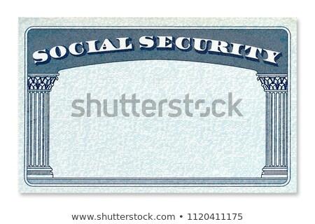 Társadalombiztosítás 3d illusztráció megvilágított neonreklám pénz biztonság Stock fotó © 72soul