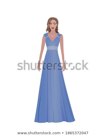 Zdjęcia stock: Młodych · piękna · kobieta · wieczór · odzież · pereł · portret