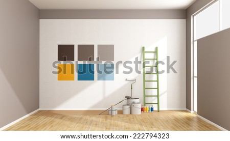 Paint swatches on wall by window Stock photo © IS2