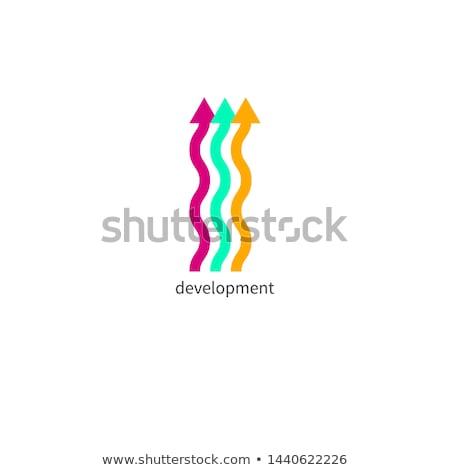Falisty ruchu naprzód projektu działalności Zdjęcia stock © SArts