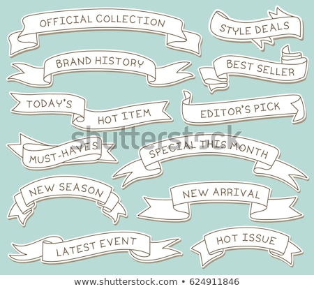 Ribbon banners on space background Stock photo © Sonya_illustrations