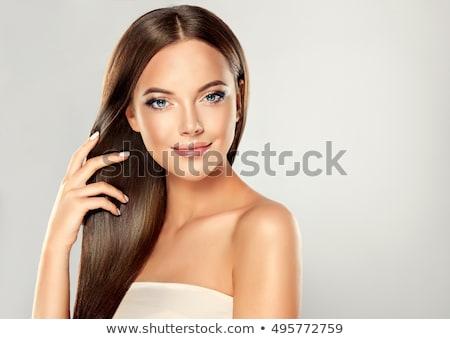 beleza · retrato · bonitinho · marrom · mulher - foto stock © deandrobot