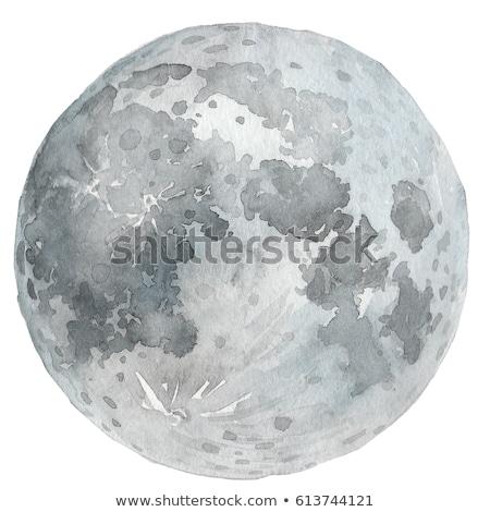 beautiful creative moon on watercolor background Stock photo © SArts