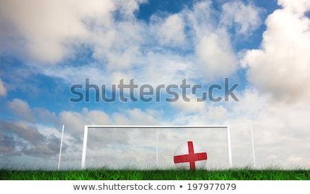 Futball Anglia színek zöld fű futball természet Stock fotó © wavebreak_media