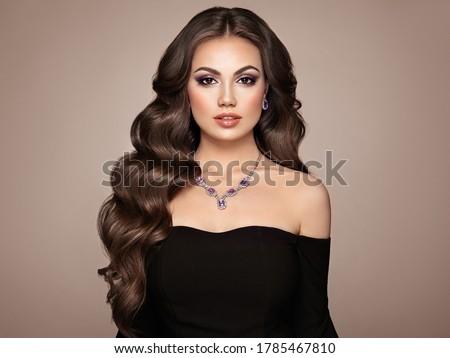 Shiny Brunette Hair  Stock photo © albund